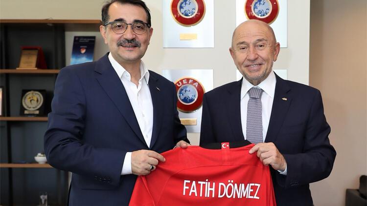Bakan Dönmez'den TFF Başkanı Nihat Özdemir'e ziyaret