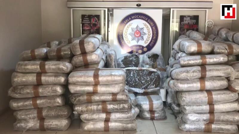 Muğla'da yaklaşık 1,5 ton uyuşturucu ele geçirildi
